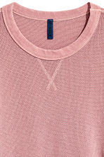 Textured sweatshirt - Pale pink - Men | H&M CN 3