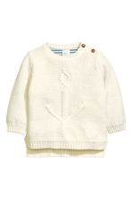 Purl-knit jumper - Natural white -  | H&M CN 1