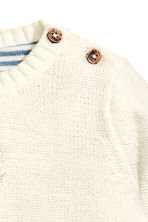 Purl-knit jumper - Natural white -  | H&M CN 2