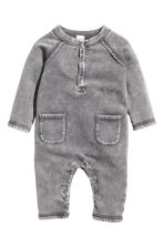 Sweatshirt romper suit - Grey washed out -  | H&M 1
