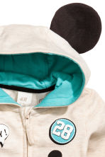 Printed hooded jacket - Light beige/Mickey Mouse - Kids | H&M 2