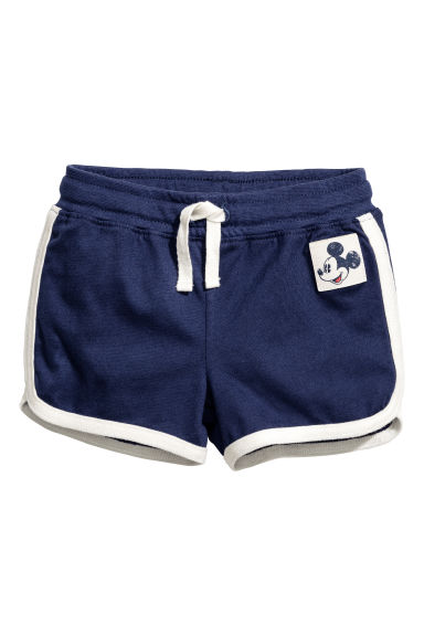 Jersey shorts - Dark blue/Mickey Mouse -  | H&M CN 1