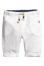 Pull-on trousers - White -  | H&M CA 2