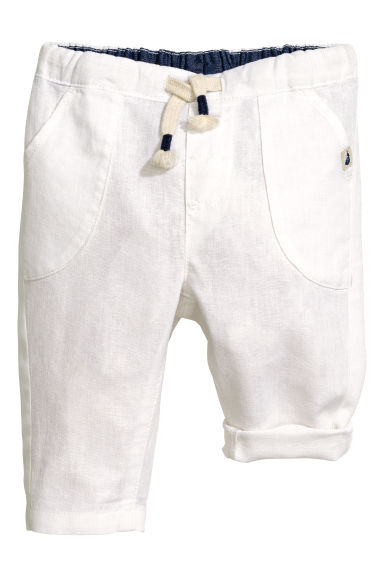 Pull-on trousers - White -  | H&M 1
