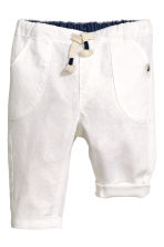 Pull-on trousers - White -  | H&M CA 1