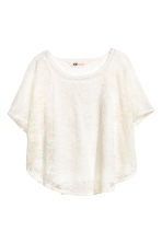 Circular top - Natural white - Kids | H&M 2