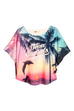 Circular top - Pink/Palms - Kids | H&M CN 2