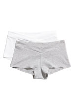MAMA 2-pack shorts - Grey/White - Ladies | H&M IE 1