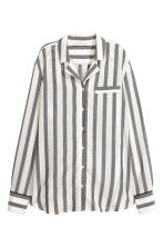 Wide-striped shirt - Black/White/Striped - Ladies | H&M 1