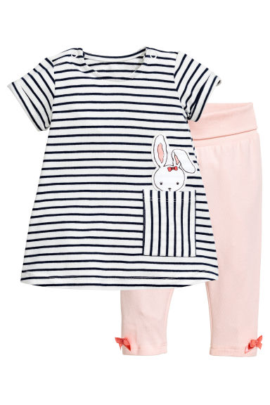 Dress and leggings - Light pink - Kids | H&M CN