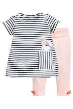 Dress and leggings - Light pink - Kids | H&M 1