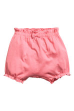 2-pack jersey shorts - Powder pink/Spotted - Kids | H&M 2