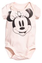 3-part jersey set - Powder pink/Minnie Mouse - Kids | H&M CN 4