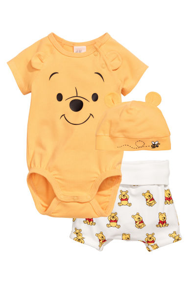 3-part jersey set - Yellow/Winnie the Pooh -  | H&M 1