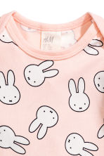 Set in jersey in 3 pezzi - Rosa cipria/Miffy -  | H&M IT 4