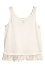 Lace-trimmed vest top - White - Ladies | H&M CN 2