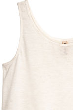 Lace-trimmed vest top - White - Ladies | H&M CN 3