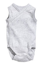2-pack sleeveless bodysuits - Light grey marl -  | H&M 2