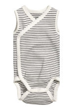 Lot de 2 bodies sans manches - Gris clair chiné -  | H&M FR 3