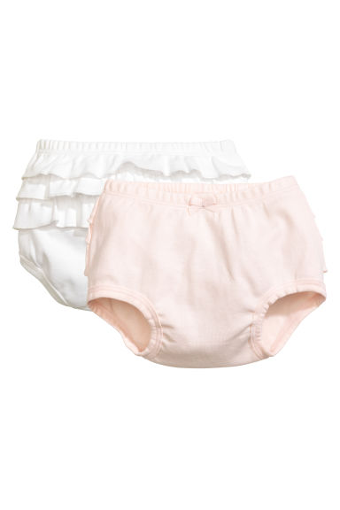 2-pack puff pants - Powder pink - Kids | H&M CN