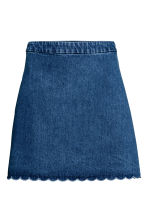 Short twill skirt - Denim blue - Ladies | H&M CN 2