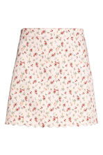 Short twill skirt - Light pink/Floral -  | H&M 2