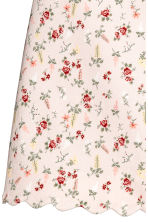 Short twill skirt - Light pink/Floral -  | H&M CN 3