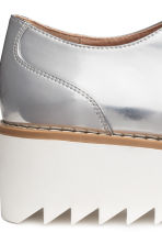 Platform Oxford shoes - Silver - Ladies | H&M 7