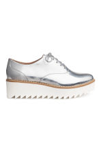 Platform Oxford shoes - Silver - Ladies | H&M 2