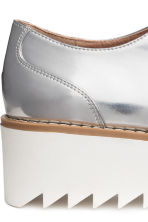 Platform Oxford shoes - Silver - Ladies | H&M 4