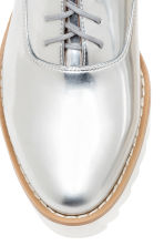 Platform Oxford shoes - Silver - Ladies | H&M 6
