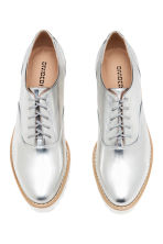 Platform Oxford shoes - Silver - Ladies | H&M 3