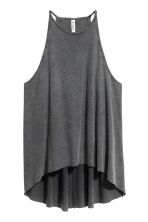 Ribbed jersey sleeveless top - Dark grey - Ladies | H&M 2