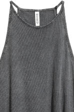 Ribbed jersey sleeveless top - Dark grey - Ladies | H&M 3