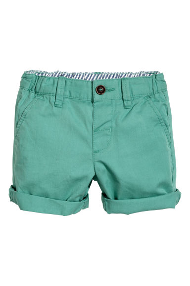 Chino shorts - Petrol green -  | H&M 1
