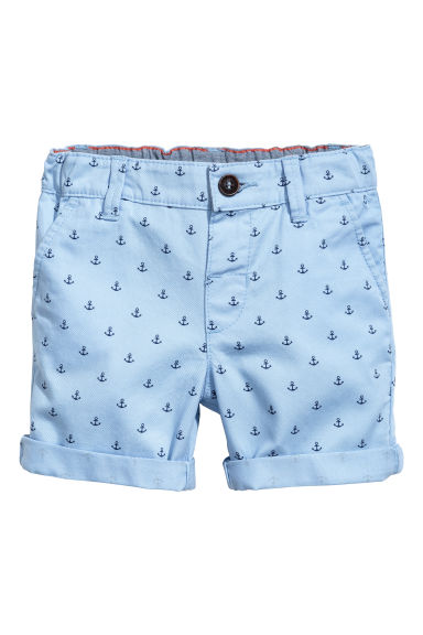 Chino shorts - Light blue/Anchor -  | H&M 1