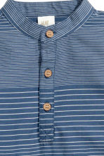 Cotton shirt - Dark blue/Striped - Kids | H&M 4