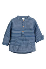 Cotton shirt - Dark blue/Striped - Kids | H&M 2