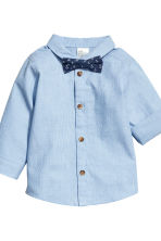 Shirt and trousers - Light blue/Grey - Kids | H&M 3