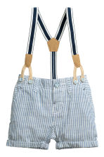 Shirt and shorts - White/Blue - Kids | H&M CN 2