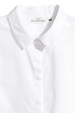 Short-sleeved cotton shirt - White - Ladies | H&M 3