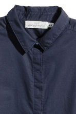 Short-sleeved cotton shirt - Dark blue - Ladies | H&M CA 3