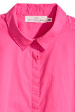 Short-sleeved cotton shirt - Cerise - Ladies | H&M CN 3