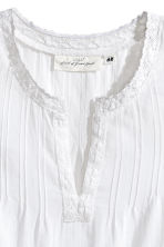 Crinkled cotton top - White -  | H&M 3