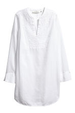Embroidered cotton tunic - White -  | H&M 2