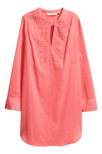 Embroidered cotton tunic - Coral pink - Ladies | H&M 2