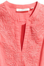 Embroidered cotton tunic - Coral pink - Ladies | H&M 3