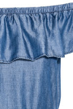 Lyocell off-the-shoulder dress - Denim blue - Ladies | H&M CN 3