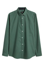 Shirt Slim fit - Dark green - Men | H&M 1