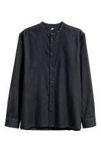 Grandad shirt Regular fit - Black - Men | H&M CN 2